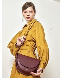 Atelier Park Cow Leather Lami Bag _ Burgandy - Yellow