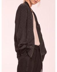 W Concept - Woman Silk Dot Blouson (black) - Lyst