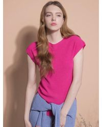 MOIMOII - Whole Garment Slim Fit Knit Top - Lyst