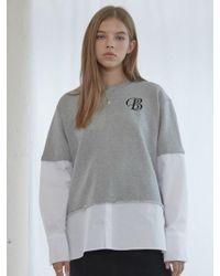 bpb - Grey Combi Sweatshirts - Lyst