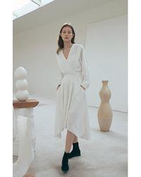 OUI MAIS NON Maria Stripe Dress - White