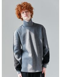 BONNIE&BLANCHE - Grey High Neck Sweatshirt - Lyst