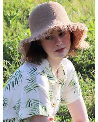 SLEEPYSLIP Linen Fabric Bucket Hat - Brown