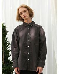 APPARELXIT [unisex] Side Vent Stitch Shirt - Gray