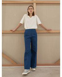 AEER Denim Boot Trousers - Blue