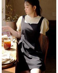FLOWOOM Rose Vine Bustier Dress Mini - Black