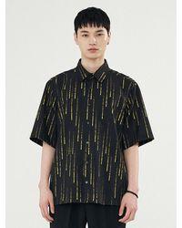 Add Rain Effect Graphic Shirt - Black