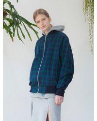 TARGETTO - Green Check Blouson Green - Lyst