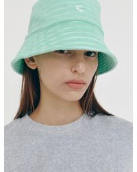 Clove Terry Striped Bucket Hat - Green