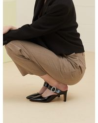 JUST JINNY Sketty Backless Shoes (jjnb1gmu02) - Black