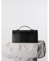 Yuul Yie Jeanne Shoulder Bag Black Croc