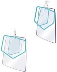 AOULIN - Clear Geo Earring - Lyst