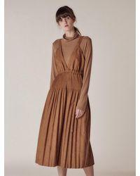 HIDDEN FOREST MARKET Fortuna String Dress - Brown