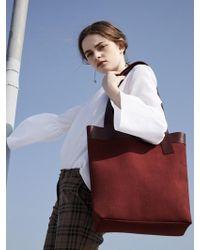 ATCLIP Line Bag_burgundy - Red
