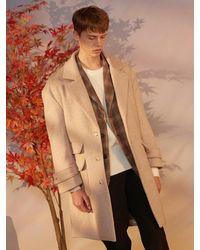 LIBERTENG Wool Oversize Coat Oatmeal - Natural