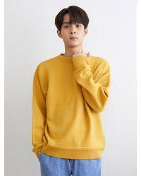 URBANDTYPE Urban Wool Round Knit Jumper - Yellow