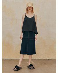 J.CHUNG Lemo Skirt (dark Navy) - Blue