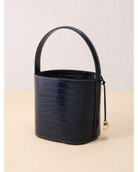 &W STUDIO Gleam Round Bucket Bag_brown