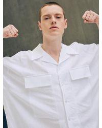 Add - Oversized Pocket Linen Shirts White - Lyst