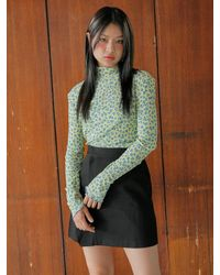 Noir Jewelry Leopard Top - Yellow