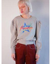 Fleamadonna Shirring Sweat Shirt - Gray