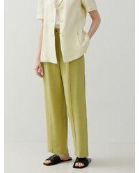 among Linen Line Pants [5 Colors] - Green