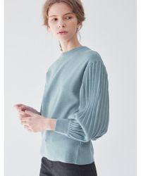 PLOT Balloon Sleeve Knit Mint - Blue