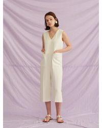 W Concept - Minimal Pocket Jumpsuit - Lyst