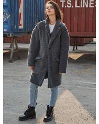MADMARS - [unisex] Embroidered Fur Coat_gray - Lyst