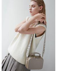 DEMERIEL Box Bag Mini - Natural