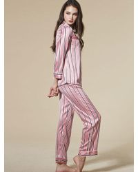 EBLIN - Pink Stripe Pajamas - Lyst