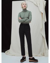 MILLOGREM Embroidered Wool Trousers Black