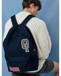 W Concept - Logo Vintage Backpack_navy - Lyst