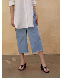 AEER Skirt Denim Slit - Blue