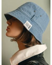 SLEEPYSLIP El Light Denim Bucket Hat - Blue