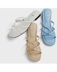 Intense Clothing Leather Strap Sandal - Multicolour
