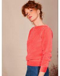 Bensimon Velvet Sweatshirt - Pink