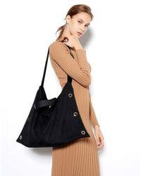 VIVICHO - Suede Shoulder Bag In Black - Lyst