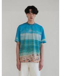 13Month Beach Printing T-shirt Blue