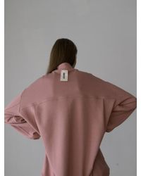 AEER - Back Label Sweat Cotton Tshirts Pink - Lyst