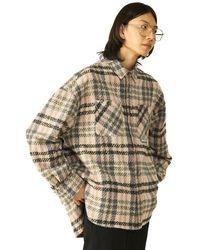 Heich Blade Heavy Check Shirt Jacket - Pink