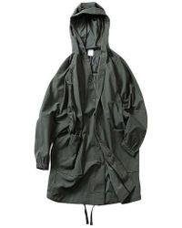 W Concept Fleta Mid Length Wind Coat Olive - Green