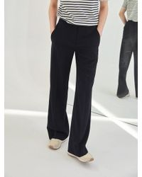 COLLABOTORY - Baama6023m Normcore Wide Trousers Black - Lyst