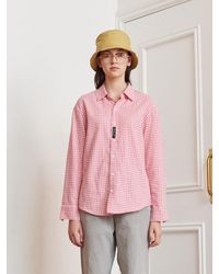 13Month Gingham Check Long Sleeve Shirt - Pink