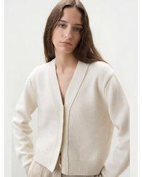 AVA MOLLI V-neck Cardigan - White
