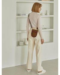 ANDSEEYOU Symbol Mini Crossbody Bag - Brown