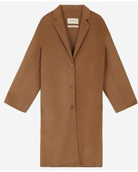 a.t.corner - Dark Beige Mixed Wool Taylor Coat - Lyst