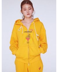 Baby Centaur Baby Chewing Gum Hoodie Zip Up - Yellow