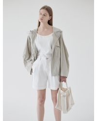 NILBY P Summer Cropped Hoodie - Natural