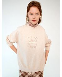 OUI MAIS NON Bubble Sweatshirt - White